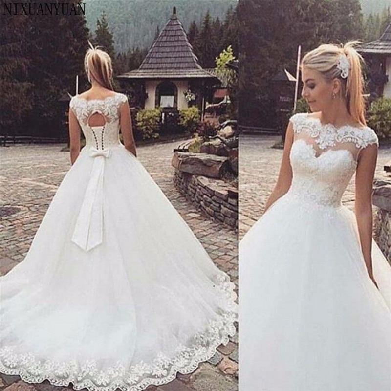 Manicotto Della Protezione Della Boemia Abiti da Sposa 2020 Più Il Formato su Ordine di A-line Vestido De Noiva Aperto Indietro Vestito da Cerimonia Nuziale su Ordine di Formato
