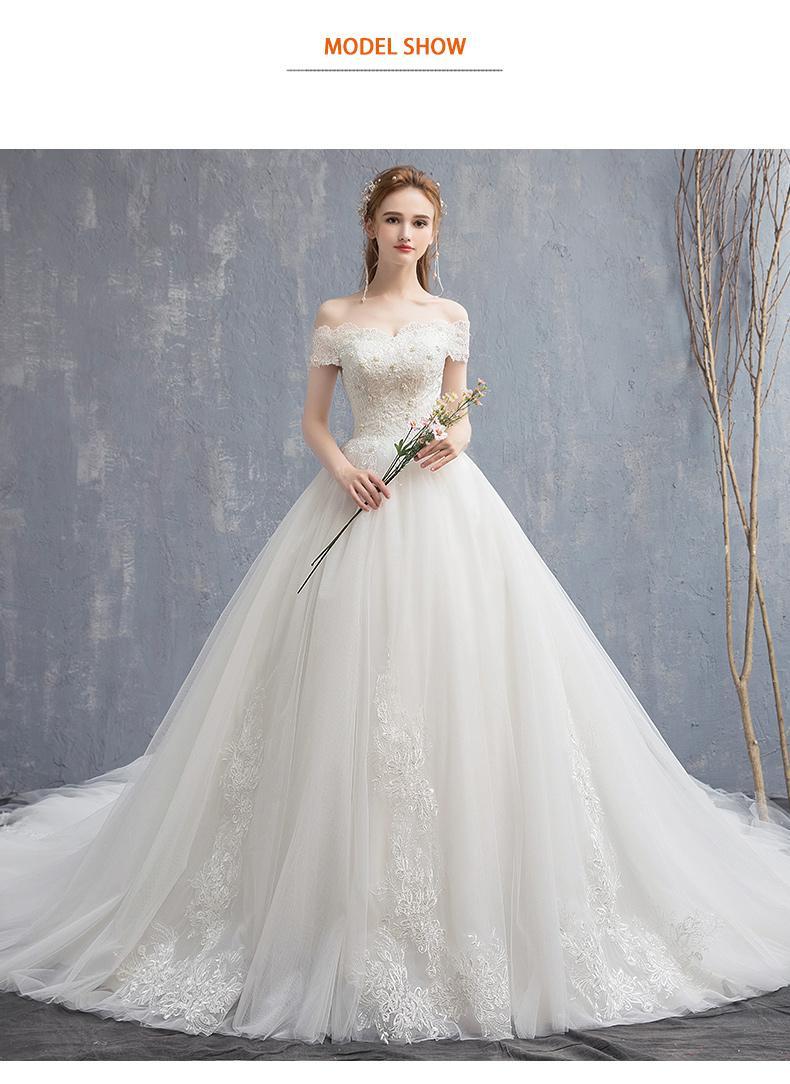 Mrs Win Applique Del Merletto Dell'annata Abito da Sposa 2020 Nuovo Fuori Dalla Spalla Vestito da Sposa Della Principessa Abito da Sposa da Sogno Cina Abiti da Sposa