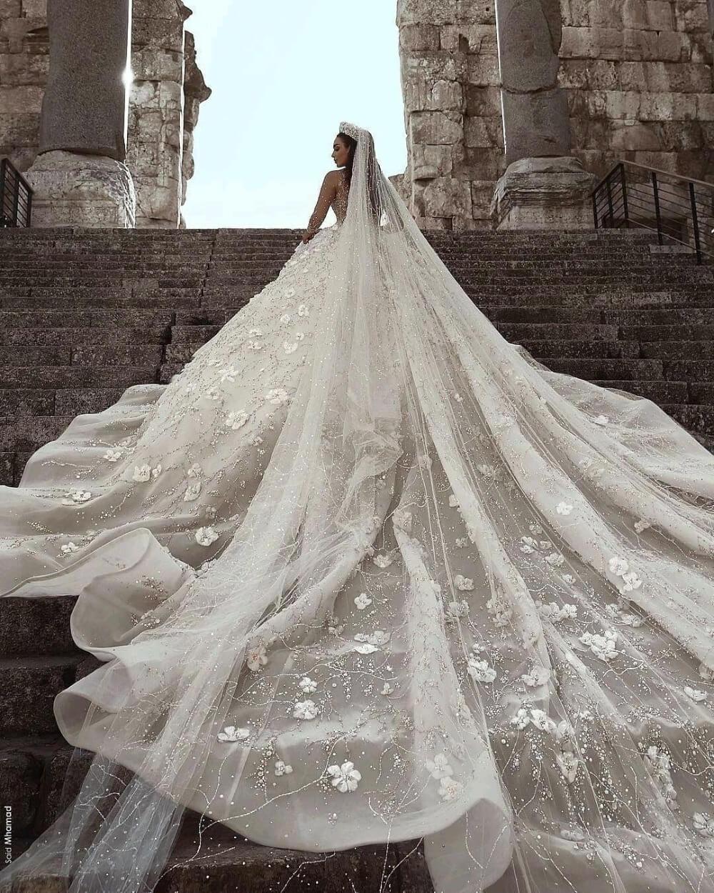 Foto Reali Grande Abito di Sfera Abiti da Sposa 2020 Abiti da Sposa in Pizzo Mariage Abiti da Sposa Vestido De Noiva Vintage