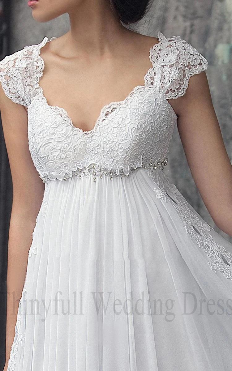 Vestido de Noiva Abito Da Sposa In Chiffon A Vita Alta Maternità Abiti Da Sposa per Le Donne Incinte Custom Made Abiti Da Sposa Impero