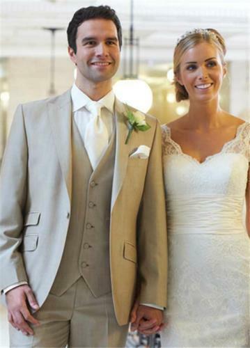 3 pcs Degli Uomini di Vestito di Un Pulsante Dello Sposo di Cerimonia Nuziale Del Partito di Promenade Del Partito Abiti Su Misura Made Hot
