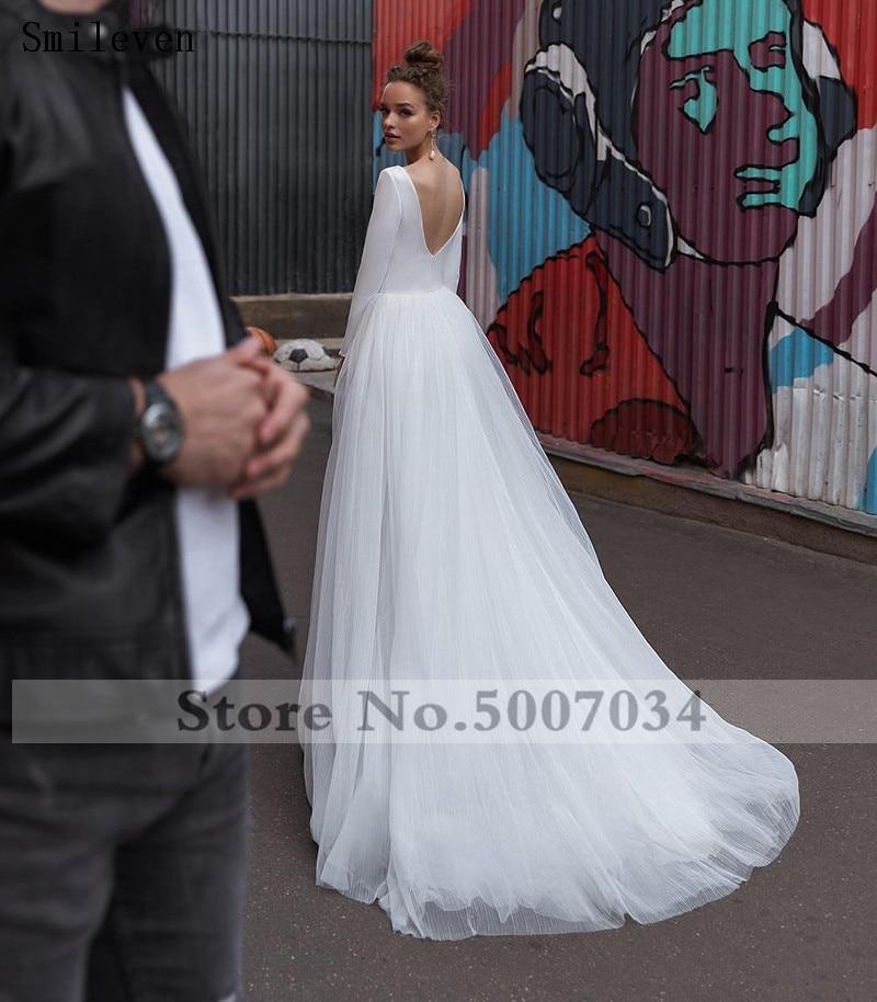 Smileven Della Boemia Abito Da Sposa Maniche Lunghe Turchia Stile Spiaggia Abito Da Sposa Abiti Da Sposa Vestido De Noiva