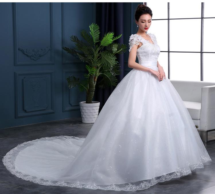 A Buon Mercato 2020 di Nuovo Modo di Lusso High-End a Maniche Lunghe Abiti da Sposa 2020 con Perline Merletto di Modo Abito da Sposa Abiti noiva