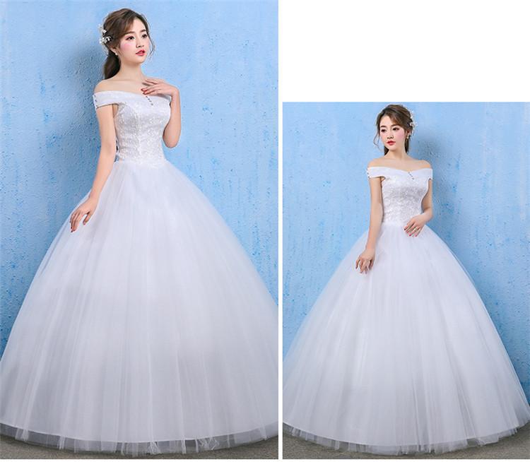 Abito da Sposa di Cristallo Lungo 2020 Del Merletto Off-Spalla Sweetheart Senza Maniche Lace Up Abito da Sposa a Buon Mercato Elegante Vestidos De Noivas