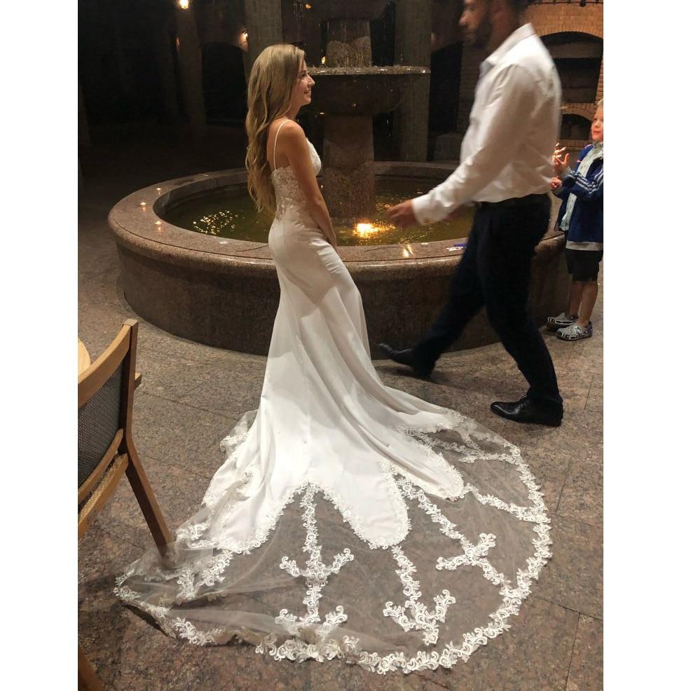 2019 Nuovo Disegno Della Sirena Abito Da Sposa Sleevelesss abiti da sposa Vintage Lace Sweetheart Neck Abito Da Sposa Backless Da Sposa Go