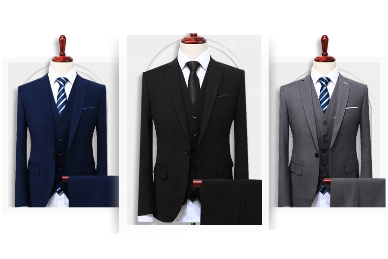 Men's Fashion Slim Fitted Suit