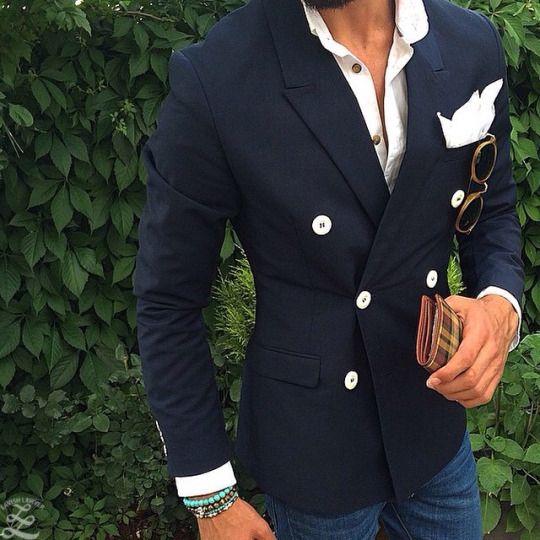 2017 Ultimo Disegno della Mutanda del Cappotto Nero Blu Navy Doppio Petto della Giacca Sportiva Vestito Degli Uomini casual Giacca Abiti Su Misura Skinny Smoking Masculino