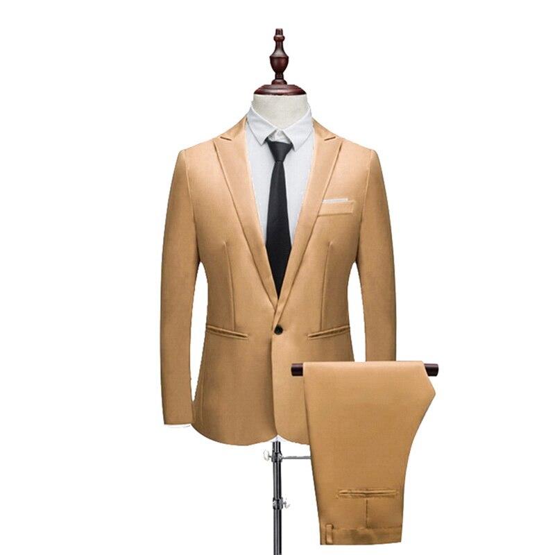 Shujin Nuovo Maschio Vestito da Cerimonia Nuziale Vestito da Promenade Verde Slim Fit Smoking Gli Uomini di Affari Formale di Usura Del Lavoro Vestiti 2Pcs Set (giacca + Pantaloni)