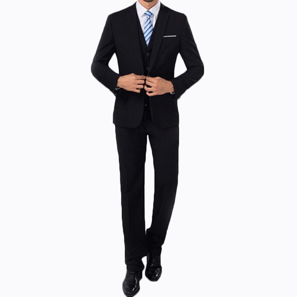 2 pz Moda Uomo Plaid Boutique di Affari Formale Giacche dell'abito Degli Uomini Dello Sposo Abito Da Sposa Vestito Cappotti Mens Casual Vestito Giacche