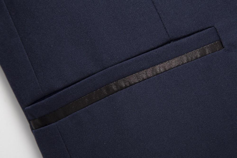 Nuovo colore puro high-end abiti da uomo (giacca + vest + pants) affari di modo banchetto di nozze degli uomini del vestito di formato Asiatico S-4XL