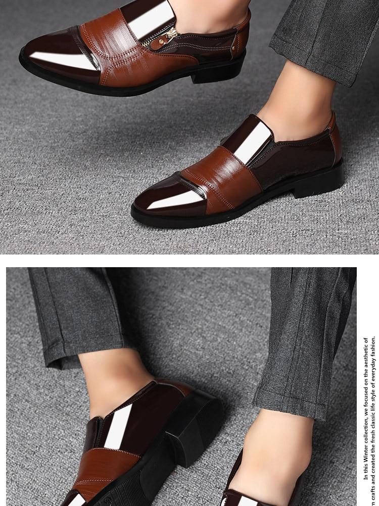 Mazefeng degli uomini Classici di Affari Abito Scarpe di Moda Elegante Scarpe Da Sposa Formale Uomo Slip On Ufficio Scarpe Oxford Per Gli Uomini nero