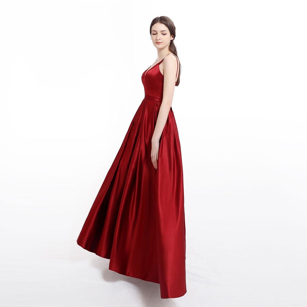 Plus size Abito Da Sera con L'alta Fessura prom Satin Royal Blue Cinghie di Spaghetti Dell'innamorato sexy abiti de fiesta de noche abiye